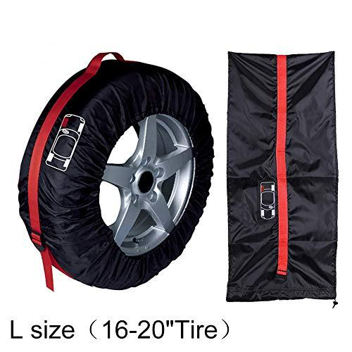 pushfocourag 1Pc Car Spare Tire Cover Auto Vehicle SUV Tyre Protector Storage Bag Wheel Case Car Tire Cover Tire Bag Tire Cover L