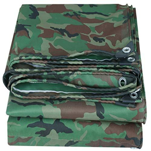 Pvc Camouflage Tarpaulin, Waterproof Tarp Ultralight Jungle Sunshade Waterproof Sunscreen Oxford Insulation Visor Anti Corrosion Outdoor Camping Garden Industrial Cover (Size : 5x6M)