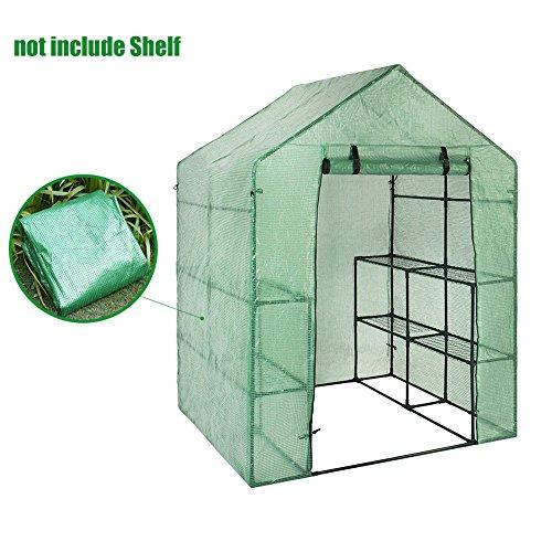 PVC Greenhouse, Replacement Walk-in Household Plant Cover Warm Garden Tent for Indoor Outdoor Seeds Herb Flower Growing (Frame Not Included)