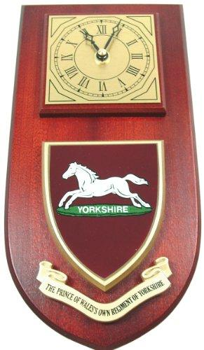 PWO Prince Of Wales Own Regiment Of Yorkshire (Badge Crest) Wall / Mess Clock