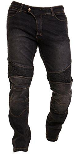 Qaswa Men's Motorcycle Denim Pants Motorbike Jeans with Stretch Panel Aramid Protection Lining Biker Trousers