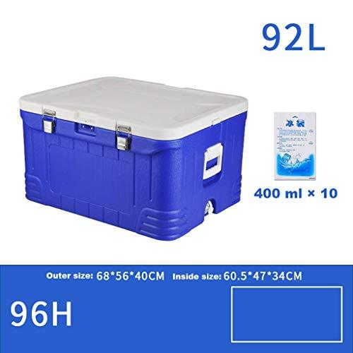QE Car Refrigerator-Cooler Box 92L Deep Freeze Zipperless Hardbody Cooler - 96 Hours Insulation- Performance Beer Beverage for Camping, Bbqs, Tailgating & Outdoor Activities