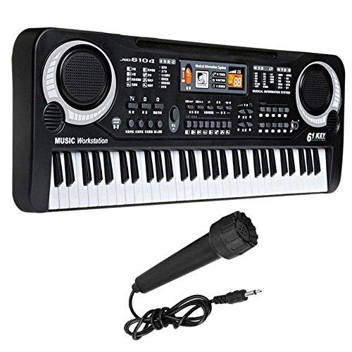 QFYZYZ PREMIUM QUALITY Musical Keyboard Education Toy 61 Keys Multifunctional Children's Musical Digital Music Electronic Electric Karaoke Keyboard Piano Organ with Microphone