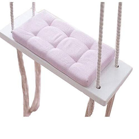 QM Swings Children's Room Decoration Entertainment Swing Solid Wood Sponge Mat Outdoor Garden 2~12 Years Old Baby Chair