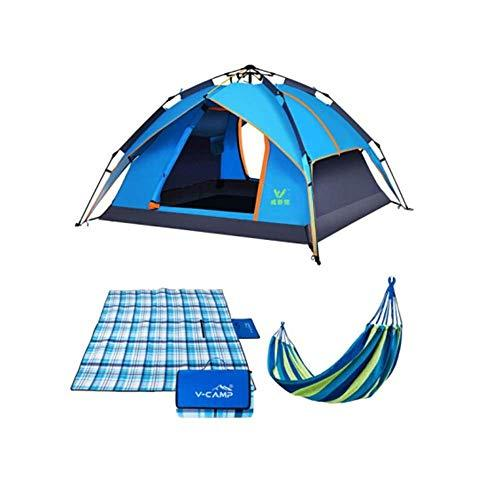 QQIBABY Hammock camping tent automatic set   on both sides skylight picnic mat moisture-proof outdoor