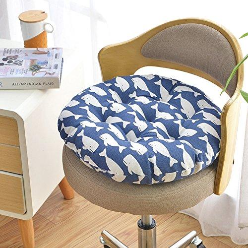 QTQZ Round Chair Cushion,Autumn And Winter Padded Round Stool Rattan Cushion Simple Dormitory Futon Chair Pads-T diameter45cm(18inch)