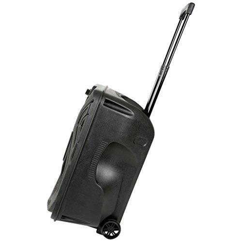 QTX QK12PA Portable 12-Inch Busker PA Speaker System with Rechargeable Battery, Wireless Microphone, Bluetooth and MP3 Media Player