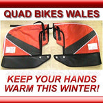 Quad Bike Handle Bar Mitts Gloves RED