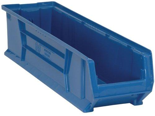 Quantum QUS970 Plastic Storage Stacking Hulk Container, 30-Inch by 8-Inch by 7-Inch, Blue, Case of 6