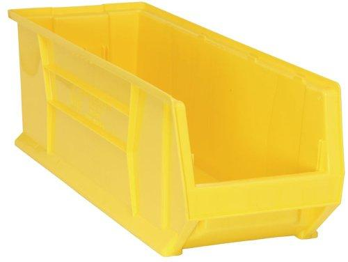 Quantum QUS973 Plastic Storage Stacking Hulk Container, 30-Inch by 11-Inch by 10-Inch, Yellow, Case of 4