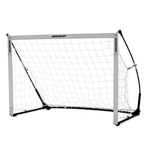 QUICKPLAY Kickster Elite Football Goal 1.5x1M - Ultra Portable Indoor & Outdoor Football Goal Features Weighted Base [Single Goal]