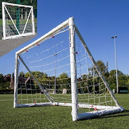 QUICKPLAY Q-Fold 6x4ft | The 30 Second Folding Football Goal for the Garden [Single Goal] The Best Weatherproof Football Net for Kids and Adults - 2YR WARRANTY