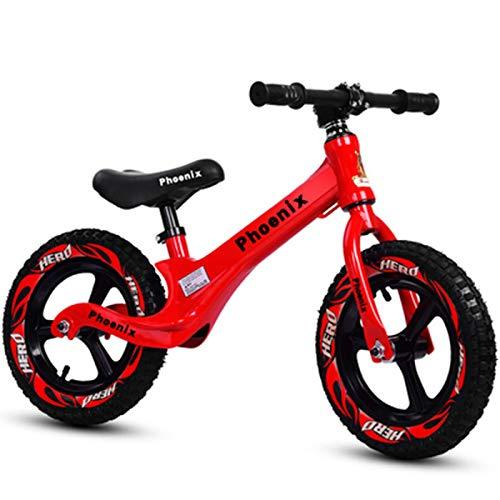 QunWang Children's Balance Bicycle Training Bicycle 2-6 Years Old Child Balance Bike Red-OneSize