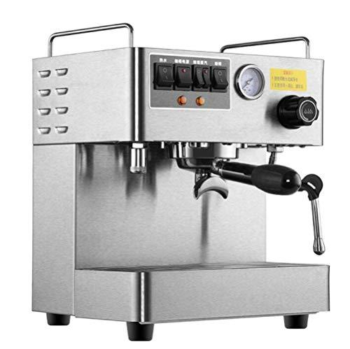 QWE Commercial Office Espresso Machine Fully Automatic 3000W Steam High Pressure Italian Coffee Machine,Silver,A