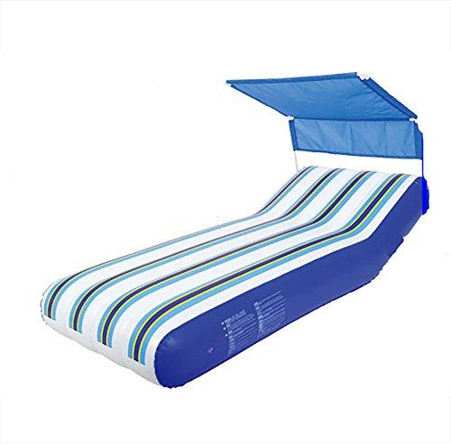 QWHKG Inflatable Bed Built-In Electric Pump Carrying Bag Inflatable Floating Bed Beach Lounge Chair Leisure Sleeping Bag Air Bed with Awning Swimming Ring Waterproof