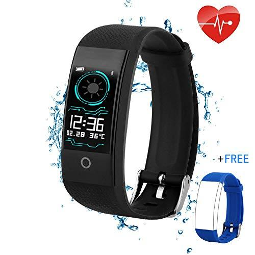 QWMoonRu Upgrade Fitness Tracker with Heart Rate Blood Pressure Blood Oxygen Monitor for Women, Men and Kids, Waterproof Activity Tracker with Pedometer Watch and Sleep Monitor