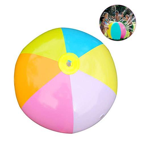 QYWL Outdoor water polo, Inflatable PVC, Water spray, Beach ball, Suitable for outdoor lawn, Summer Beach, Pool party, Beach toy, Child adult