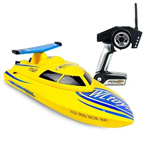 Rabing RC High Speed Racing Boat for Pools and Lakes, Easy Control for Kids and Adults with Self-righting Feature Low Power Protection