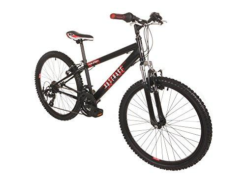 Raleigh Abstrakt 24 Inch Childrens Bike in Black and Red - 13 Inch ...