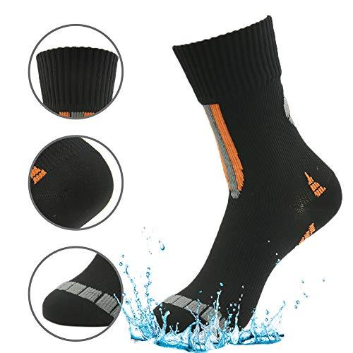 RANDY SUN Canyoneering Waterproof Socks, Unisex Performance Mid-calf Sock In Snow Sports Size Medium 1 Pair