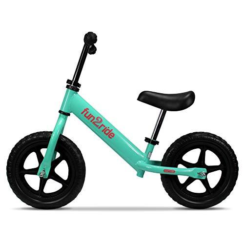 RASSINÉ Baby Fun2Ride Kids Balance Bike, Lightweight 10 inch Bicycle for Boys and Girls with Puncture Resistant Tires (Mint), S