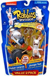 Raving Rabbids Invasion Series 2 Action Figure with Sound 2-Pack Chicken Suprise & Plunger Face by McFarlane Toys