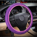 Rayauto Breathable Mesh Car Steering Wheel Cover Anti-slip No Fixed Inner Race-purple