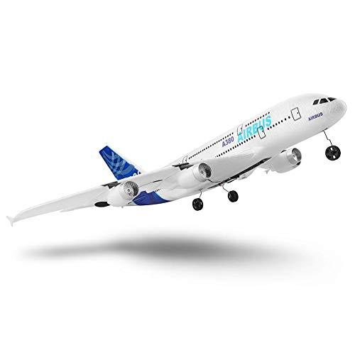 RC Airplane Outdoors Airbus A380 Aircraft 3 Channel Remote Control Airplane Glider Drone RC Airplane Indoors