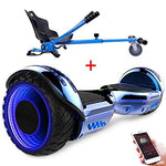 RCB Self Balancing scooter with Hoverkart Go-Kart Smart Electric Scooter for Adults kids-UL2272 Certified Built in Bluetooth Speakers LED 6.5''