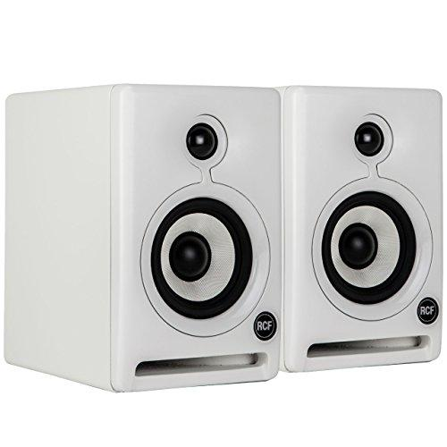 RCF AYRA4 Active Two-Way 4-Inch Professional Monitors Pair, White
