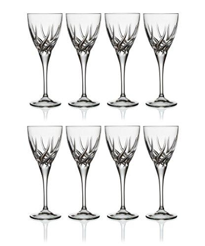RCR Crystal Twist - Da Vinci Collection - White Wine Glasses - Set of 8-240ml/8 fl oz - Glassware Made in Italy