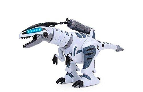 RCTecnic Dinosaur Robot Remote Control RoboRex Rocket Launcher, Sounds and LEDs! | Tyrannosaurus Rex Programmable Electronic Pets Toys for Children | T Rex Robótica Radio Control