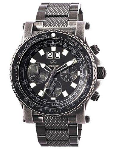 REACTOR Men's 'Valkyrie' Quartz and Stainless-Steel-Plated Sport Watch, Color:Black (Model: 81601)