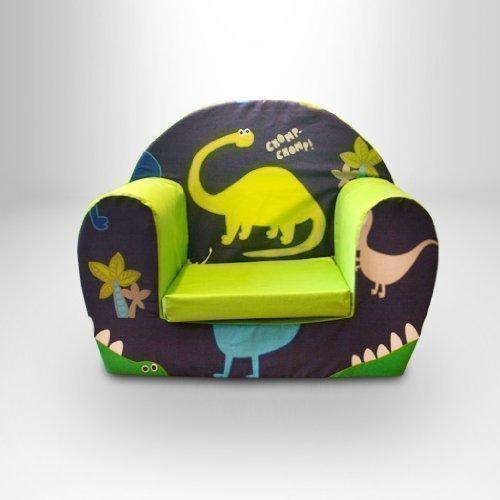 Ready Steady Bed Childrens Toddlers Foam Armchair, Dino in the Dark
