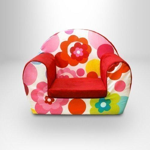 Ready Steady Bed Childrens Toddlers Foam Armchair, Flower Dot