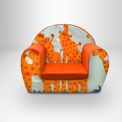 Ready Steady Bed Childrens Toddlers Foam Armchair, Savannah - Giraffe