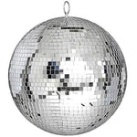 "ReaseJoy 300mm(12"") Party Disco Mirror Ball Lightweight Glass Lighting Effect Silver"