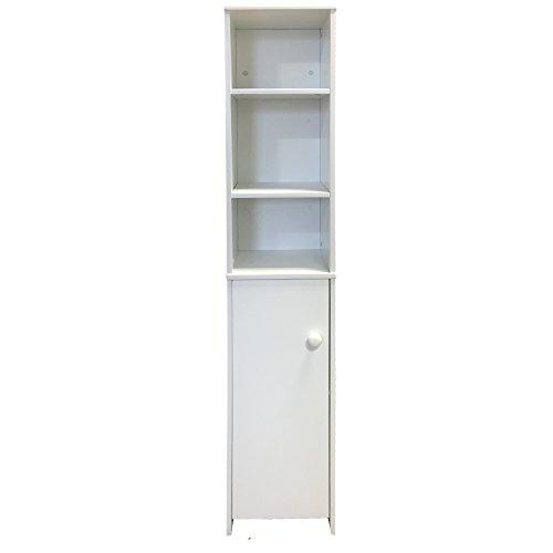 Redstone Tall Bathroom Cabinet White