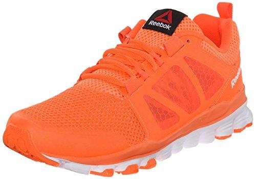 Reebok Women's Hexaffect Run 3.0 MTM Running Shoe, Electric Peach/Atomic Red/Energy Orange/Orchid/White, 5 M US