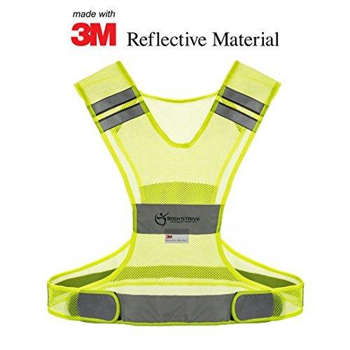 Reflective Vest for Running Walking Cycling or Biking - Best High Visibility Safety Vests Made of REAL 3M Scotchlite Material - Distinct Sizes (Small)