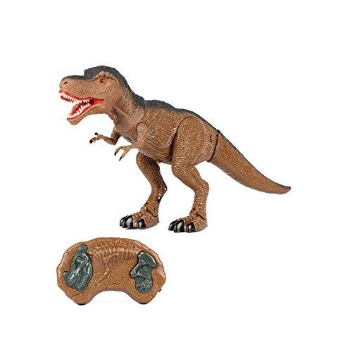 Remote Control Dinosaur RC Tyrannosaurus Rex (Movement, Light and Sound) RadioControl Initiation for Children | T Rex Robot Interactive Toy