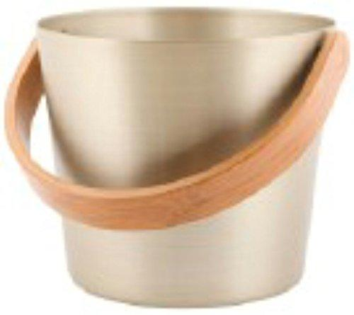 Rento - Design Sauna bucket / pail (Grip) - Aluminium and heat treated bamboo, champagne, 5 litre [225708]