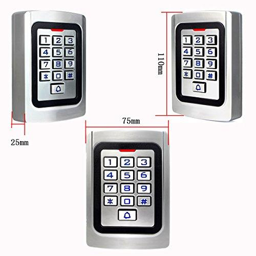 Retekess K10EM-W Access Control System Unit Door Opening by PIN Code RFID  Card IP68 Waterproof Backlit Keyboard with Sound&Light Wiegand 26 for Shop