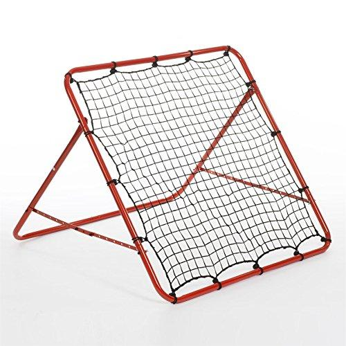 Rexco Boys Rebounder Net Ball Kickback Soccer Goal Football Training Game Kids Childrens Target Practice Aid, Multi Colour, 100 x 100cm Approx