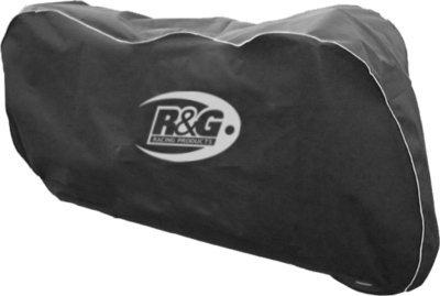 R&G RACING MOTORCYCLE INDOOR BIKE COVER PROTECTOR ONE SIZE ELASTICATED SOFT BLACK