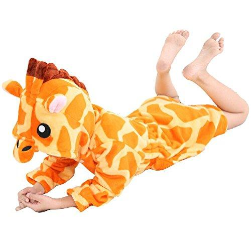 RGTOPONE Kids Soft Dressing Gown Giraffe Cartoon Comfortable Loungewear Cute Gift Luxurious Housecoat Fleece Sleepwear Hooded Bathrobe