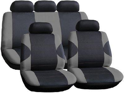Rhino Automotive© Heavy Duty Grey Race Car Seat Covers Full Set T RW0755