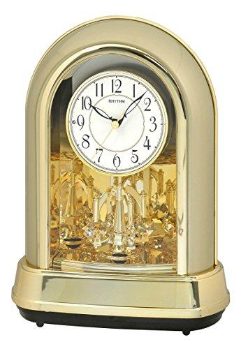 Rhythm Clocks Musical Motion Clock, Champagne, Gold, White