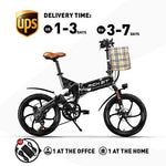 RICH BIT electric bicycle RT-730 Foldable e-bike 250W motor 48V*8Ah LG battery mechanical disc brake intelligent ebike Shimano 7-speed (GRAY)