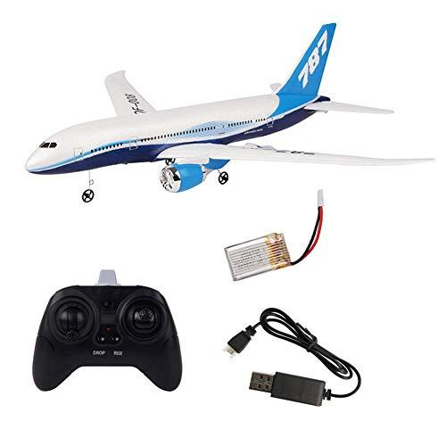 Rich-home RC Airplane Outdoors Foam Airplane Airbus Toy Model DIY 3 Channel Remote Control Airplane for Adults, Children, Teens , White, Single battery